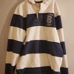 Abercrombie & Fitch rugby style polo shirt. Men's